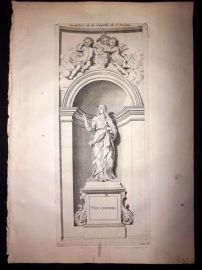 Granet 1736 Antique Print. Sculpture de la Chapelle de St. Jerome 100